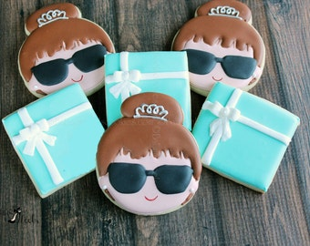Bride & Co. Cookies, Breakfast At Tiffany's Wedding Cookies, Audrey Hepburn Inspired, Wedding Cookies, Tiffany Party, Bridal Shower