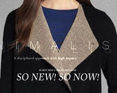 """Two-toned Cashmere Fabric - 59"""" width 700g Beige and Black double sides cashmere wool coat fabric - 1 yard"""