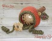 Newborn Pumpkin Bonnet - Fall Autumn Hat- Photography Prop - Baby Girl - Baby Boy