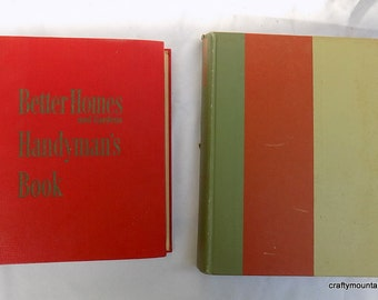 Set of 2 Retro Home Books, Better Homes Handyman and Good Housekeeping Decorating