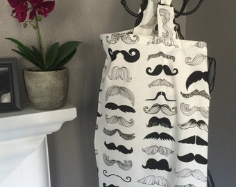 Mustaches Nursing Cover, Breastfeeding Cover Black and White Design