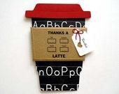 TEACHER Appreciation Latte Gift Card Holder I