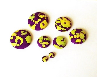 Button Fab - Batik Fabric Buttons and Studs