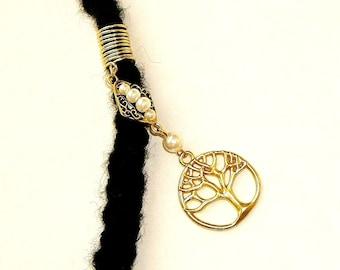 Dreadlock Jewelry - Golden Tree of Life Loc Jewel (SEE NOTE & TIP in Description)
