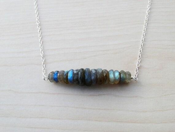 Labradorite & Silver Necklace - Sterling Silver