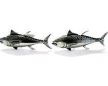 Tuna Fish Pendant Cufflinks