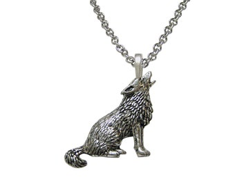 Howling Wolf Pendant Necklace
