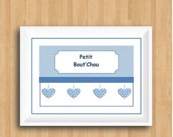 Petit Bout'Chou,Boy Nursery Print,French Nursery Print,French Nursery Quote,Boys Nursery Decor,Nursery Art,Children French Print
