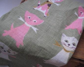 Vintage Tammis Keefe Cat Linen Towel