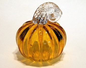Hand Blown-Glass Pumpkin