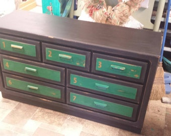 Industrial Painted Dresser