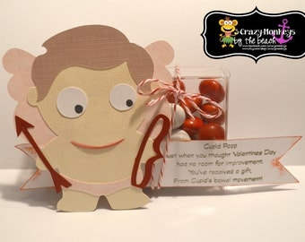 Valentines Day Favors, Cupid Poop, M & M's, School, Party, Friends, Family, Classroom Favors, Cupid, Love