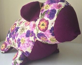 Purple Pressed Flowers Lamb