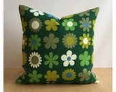 "Pillow Cover Vintage Retro Moygashel Heidi Genia Sapper 16"" x 16"" Green"