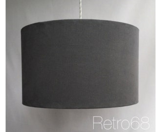 40cm Grey Drum Lampshade LightShade With Or Without Diffuser