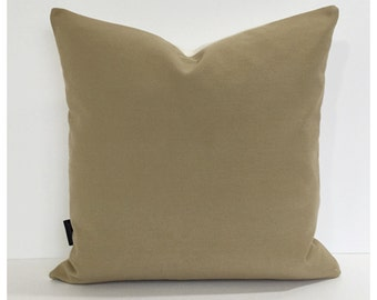 Beige  Cotton Fabric Cushion Cover 16 x 16 Throw Pillow Cover