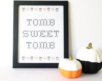 Halloween printable art - tomb sweet tomb