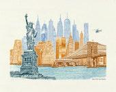 New York City Skyline - A...