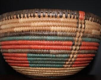 Vintage South Western Basket Bread Basket Fruit Basket Food Basket Vegetable Basket Mid Century Modern Kitchen Flower Basket Mod Home Decor