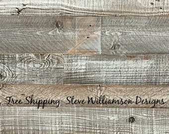 Reclaimed Wood Paneling - 10.00 per sq ft -white washed - white washed wall plank- wall plank