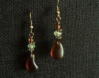 Lake Superior Beach Glass Earrings
