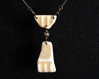 Lake Superior Beach Pottery Necklace