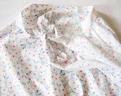 Lovely Vintage Short  cotton Serving apron with Printing Hearts Sailor and Dutch Girl