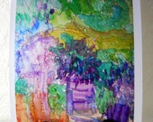 Garden Joy, Watercolor Print, Glossy Photo Paper, 8 x 10 in., Impressionism Floral, Kathleen Leasure, FromGlenToGlen