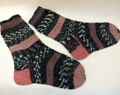 Handknit Socks for Men's Teen Socks Wool socks knitted socks gift for men Colorful Multicolor