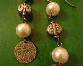 Boho Vintage Inspired Playful Bohemian Bride Earrings