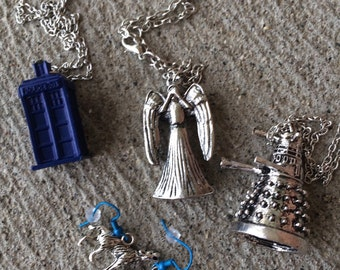 Doctor Who Christmas Gifts - Whovian Gifts - Tardis Dalek Weeping Angel Bad Wolf Jewry gifts