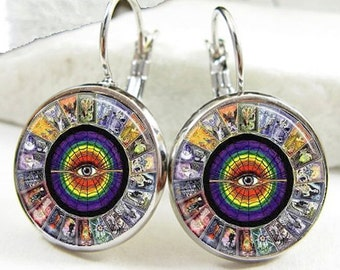 Tarot Card Earrings (ER0195)