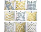 PILLOWS, Pillow Covers.Yellow Pillows, Gray Pillows, Slate Gray Pillow Gold Pillow, Pillow Cover, Decorative Pillow, Throw Pillow, All Sizes