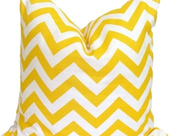 Yellow PILLOW Sale.14x14 inch.Yellow Decorative Pillow Cover.Yellow Pillow Cover.Yellow Chevron.Yellow Zig.Yellow Chevron..Housewares.Home