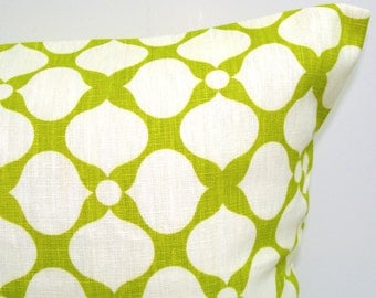 GREEN PILLOW Cover.12x20, 16x20, or 16x24 inch Decorative Pillow Cover,Green Pillow..Lime Green.Linen.Chartreuse.Floral.Pillow.Cushion.cm
