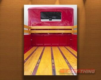 Guy Gift, Old Truck Photo, Truck Picture, Truck Art, Red Truck, Boyfriend Gift, Automotive Print, Guy Thing, Murray Bolesta, Vertical Art