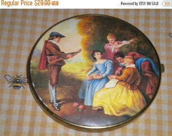 SUMMER SALE Beautiful French/Victorian West Germany Compact Double Mirror, French Boudoir, French Country, Victorian