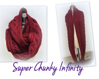Best Selling shops Items, Oversized large infinity scarf, Chunky Knit  Infinity Scarf, Thick knit scarf, Knitted Infinity Scarf - By PiYOYO