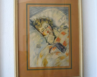 Vintage Maud Tousey Fangel In the Land of the Sandman Framed Wall Art