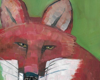 Fox Face Original Oil Painting
