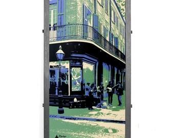 New Orleans Framed Silkscreen Print, Royal Street Musicians