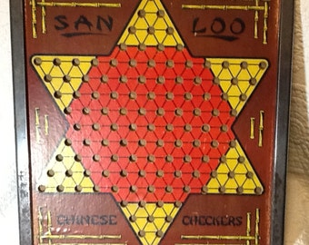 San Loo Chinese Checkers With Marbles