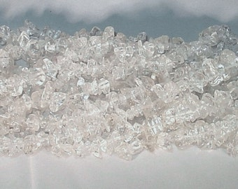"Natural Rock Crystal Chip Gemstone Beads - 34"" Strand"