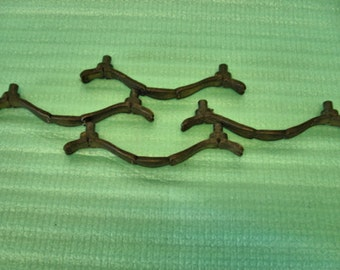 Vintage Lot of 4 Brass Pull Handles Furniture Pulls Distressed Lot no. 945G