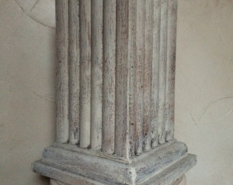 Vintage Wood Column Wood Pedestal Wood Pillar Architectural Salvage Wood Pillar