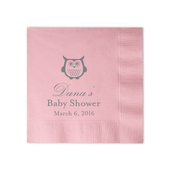 Owl Personalized Baby Shower Napkins By Pink Poppy Party Shoppe Catch My Party