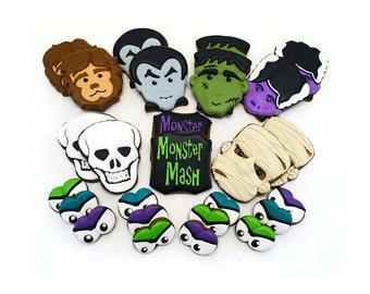 Decorated Cookies - Halloween - Cookie Platter - Monster Mash