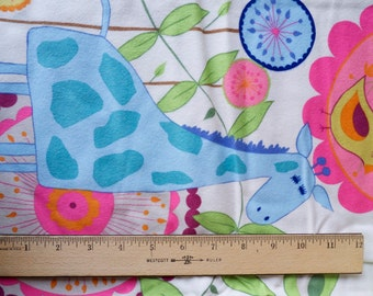 Half Yard Urban Flannel by Valori Wells for Free Spirit Jungle Animals Pink