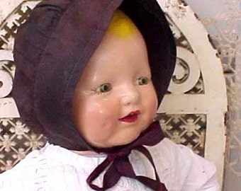 Sweet Antique Pennsylvania Dutch Amish Mennonite Child's Bonnet