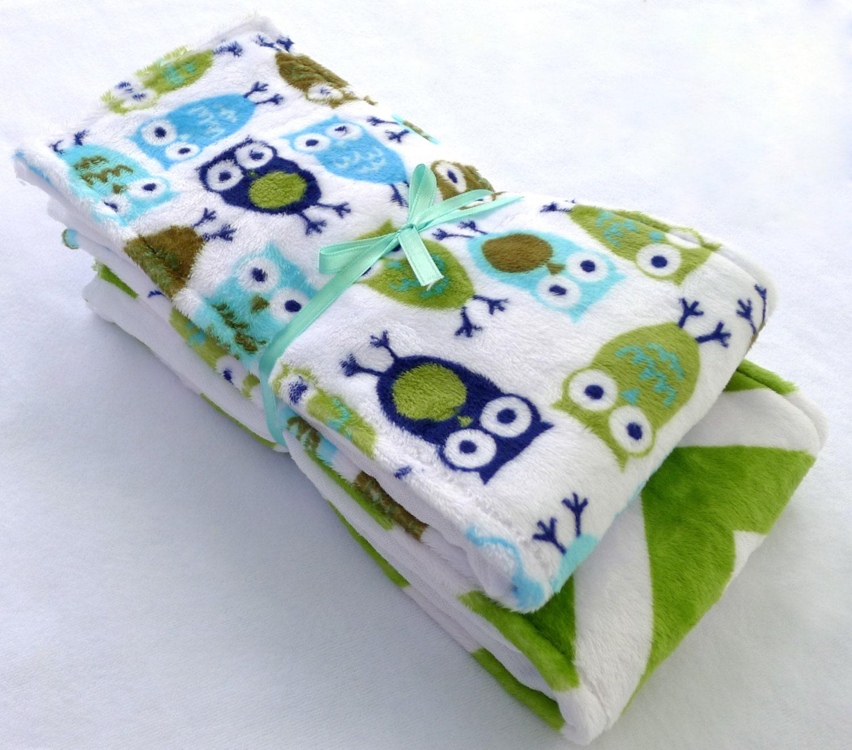 Owl Burp Cloth Minky Burp Cloth Set Nappies Nappy Baby